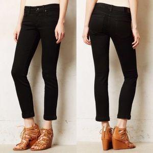 Anthropologie Level 99 Black Lily Crop Skinny Jean